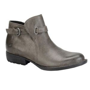 Born gray ankle booties Jem in Peltro Oiled Suede